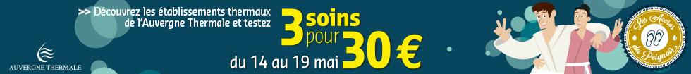 3 soins pour 30 euros avec l'Auvergne Thermale