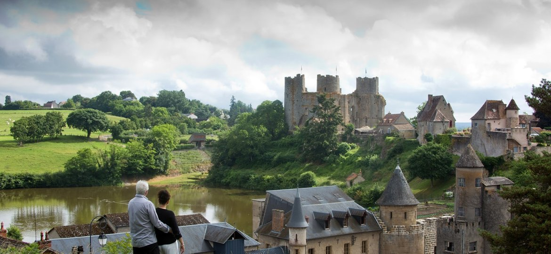 Bourbon-l'Archambault, vue sur chateau