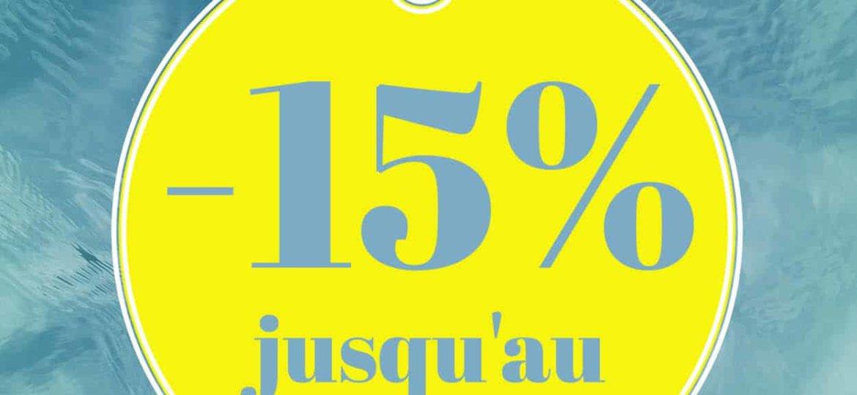 15% de reduction sur uen selection de sejours/mini-cures