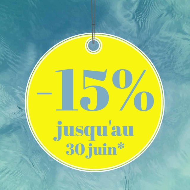 15% de reduction sur uen selection de sejours/mini-cures